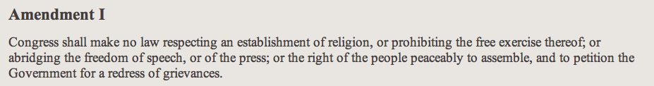 linked to Bill of Rights transcript at archives.gov